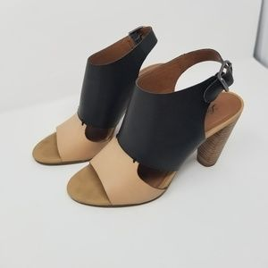 Lucky Brand Shoes - Lucky Brand 7M Otta Color Blocked Stacked Heels